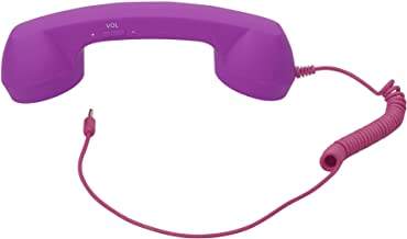 AshopZ Retro Telephone Handset 3.5mm Cell Phone Receiver for Iphone,purple