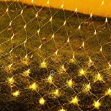 Ollny 200 LED Net Mesh Fairy String Lights 9.8ft x 6.6ft Christmas Tree wrap with Remote for Outdoor...