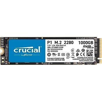 Crucial SSD M.2 1000GB P1シリーズ Type2280 PCIe3.0x4 NVMe 5年保証 正規代理店保証品 CT1000P1SSD8JP