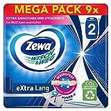 Zewa Wisch und Weg extra lang Original Küchenrolle, Mega Pack, 9 Packungen (2 Rollen x 86 Blatt) -