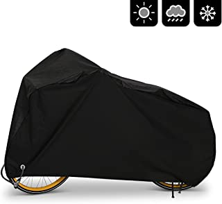 AIMUHO Bike Cover 210D Oxford Fabric Waterproof Bicycle Cover with Lock Holes, Outdoor Bicycle Rain Cover UV Protection fo...