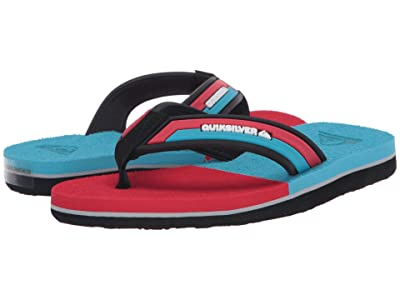 Quiksilver Kids Molokai Eclipsed Deluxe (Toddler/Little Kid/Big Kid) (Black/Red/Blue) Boys Shoes