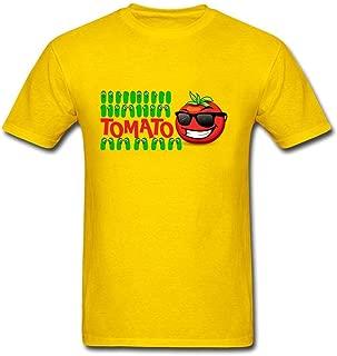 Tee Center Men Summer Cool Tomato and Cucumber Cartoon T Shirt