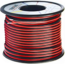 TUOFENG 100 ft 20 Gauge 2pin Red Black Cable Hookup Electrical Wire LED Strips Extension Wire 12V/24V DC Cable,20AWG Flexi...