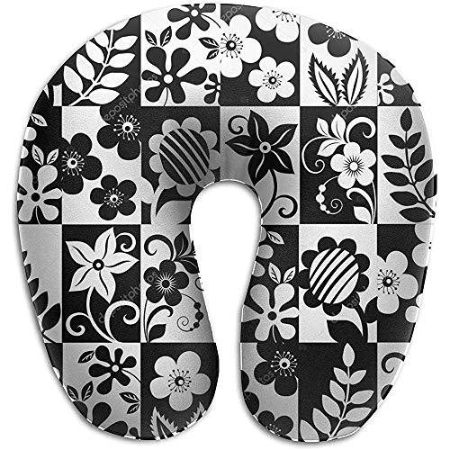 Nekkussen, zwart-wit-blouse decoratieve ondersteuning kussen voor comfort comfort reizen