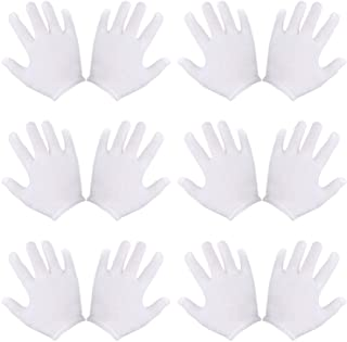 Olgaa 18 Pairs Kids Costume Gloves Cotton White Glovesfor Costume Party Accessory