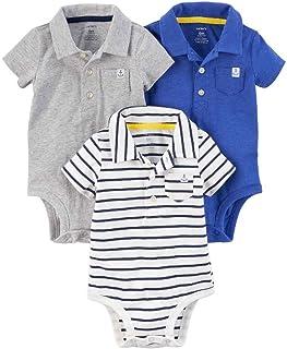 Carter's Baby Boys' 3-Pack Short-Sleeve Polo-Style Bodysuits