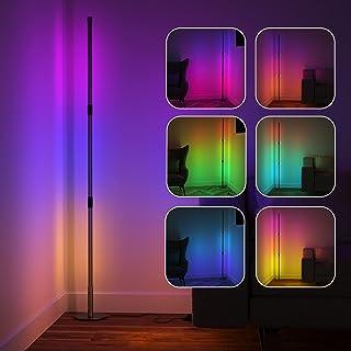 Viugreum Lampadaire LED Salon, 20W 220V RGB Lampadaire sur Pied a 16 millions couleurs, Lampadaire LED avec Télécommande, ...
