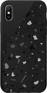 Native Union Clic Terrazzo Case - Hand-Crafted Terrazzo Cover - Compatible with iPhone Xs Max (Black)