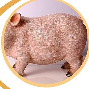 STOBOK Escultura de Animales Estatua de Cerdo para el Regalo de la decoración del hogar del jardín
