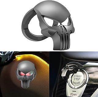 جلد دکمه استارت موتور جمجمه ، انگشتر دکوراسیون جهانی فشار به احتراق ، برچسب محافظ ضد خراش اتوماتیک