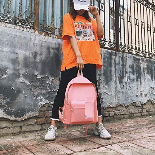 Neue Einfache Oxford Tuch Doppel Rucksack Koreanischen Alphabet Harajuku Wild Große Kapazität Tasche 4 30 * 12 * 40Cm