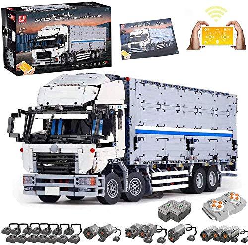 PPTOOL LKW Bauset mit 8 Motoren, 4166 Teile LKW Truck Baustein Kompatibel mit Lego Technic