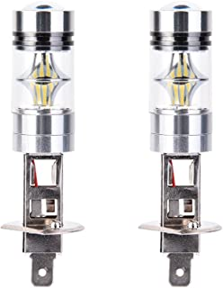 TOHUU LED Fog Light Bulbs Super Bright H1 High Power 100W 1800LM LED Fog Driving Light Lamp Bulb - 6000K Xenon White