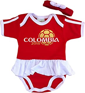 Pam GM Colombia Baby Girls Soccer Bodysuit World Cup 2018