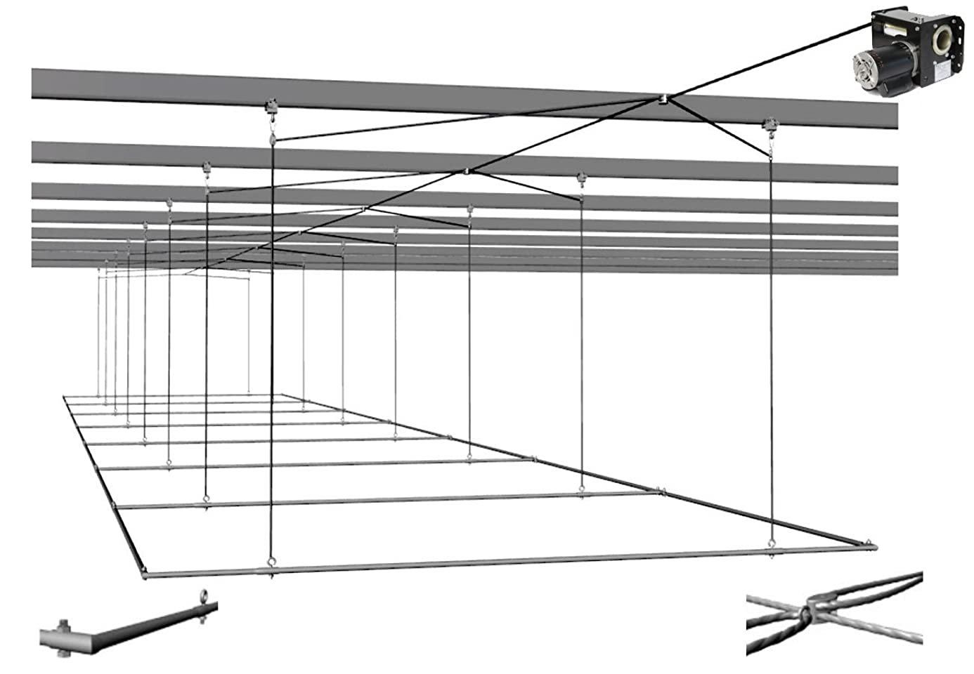 Cimarron Sports CMH Air Frame Batting Cage 70-ft x 14-ft