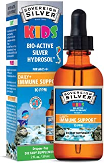 Sovereign Silver Bio-Active Silver Hydrosol for Kids Immune Support, 2 oz.