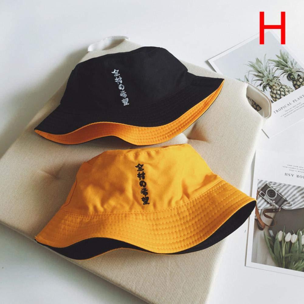 Bucket Hat Chapeau Femmes Hommes Unisexe Respirant Double Face Coton Bucket Hat Sun Cap