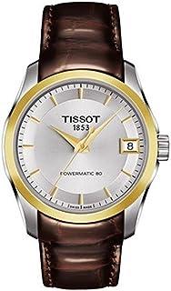 ساعة عملية كاجوال للنساء انالوج وسوار جلدي من تيسوت - T035.207.26.1092.24