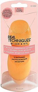 Real Techniques 奇迹肤色海绵 化妆棉 Miracle Complexion Sponges 【由亚马逊海外卖家Meivita美国直邮】