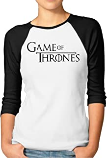 Game Of Thrones Typography 3/4 Sleeve Shirts Vintage Printing