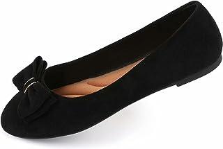 Samilor Women's Flats Comfortable Flats Shoes Women Cute Dressy Bow Ballet Flats for Women