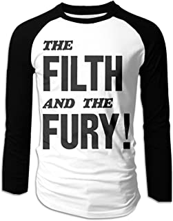 The Filth and The Fury Men's Casual Full Long Sleeve T-Shirt Cotton Raglan Baseball Jersey