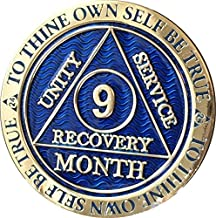 9 Month AA Medallion Reflex Blue Gold Plated Chip