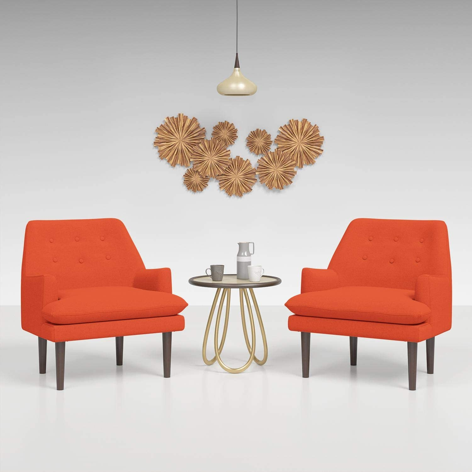 JustRoomy Mid-Century Modern Fabric Arm お気に入 受賞店 Chairs Living Room for