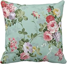 YaYa cafe Polyester Blend Floral Printed Cushion Cover, 12X12-inches, Grey