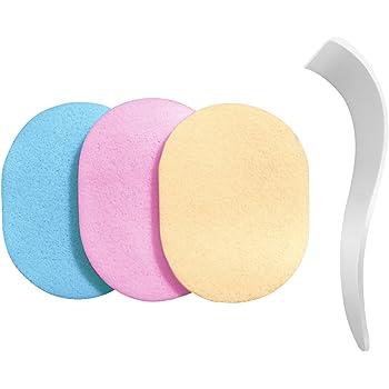 【除毛用】s-fit スポンジ ヘラ 洗って使える 3色セット 100%PVA 除毛クリーム専用 メンズ レディース