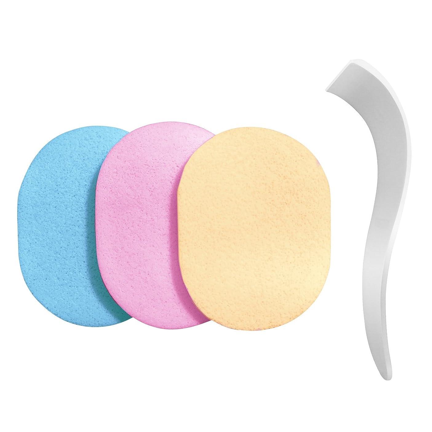 しばしば厚さに向かって【除毛用】s-fit 専用ヘラ スポンジ 洗って使える 3色セット 100%PVA 除毛クリーム専用 メンズ レディース