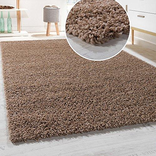 Paco Home Hochflor Shaggy Langflor Teppich versch. Farben u. Grössen TOP Preis NEU*OVP, Farbe:Beige, Grösse:70x140 cm