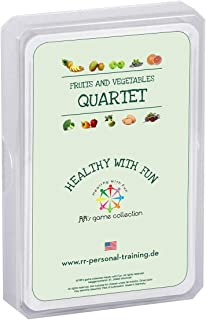 RR's game collection Healthy with Fun - Fruits & Vegetables Trump Card Games | Food Learning - Educational Game for Kids Teens Adults | Trump Cards | Nutrition Games for School and Families