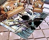 YUBAIBA Animado de la Alfombra por Sword Art Online, Crystal Terciopelo Dormitorio de Noche Manta, Área de alfombras, Hogar Alfombra, habitación de los niños 3D Impreso Tatami, decoración del hogar