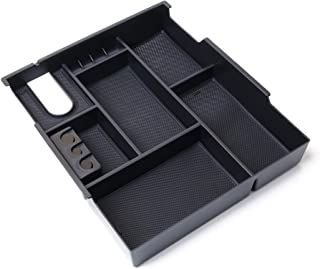 KAFEEK for 2014-2019 Toyota Tundra Center Console Organizer, Armrest Box Secondary Storage, Black Insert Tray