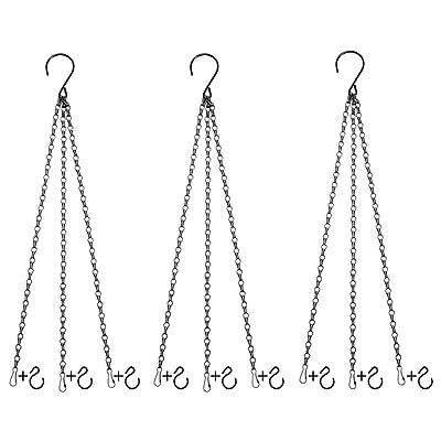 3 Sets Hanging Chain Flower Pot Basket Replacem...
