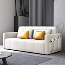 Convertible Sofa Couch Sleeper with Space Saving Storage Compartments, Ergonomic Design, Foldable Loveseat Sleeper Sofa Fu...