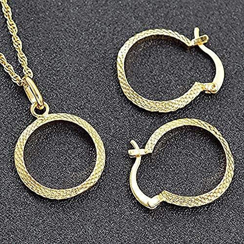BEISUOSIBYW Co.,Ltd Collar Collar clásico Conjunto de Joyas de Cobre Pendientes de Mujer Collar Colgante para Compromiso Corazón Hallazgos Joyas Collar Longitud 45cm Collar