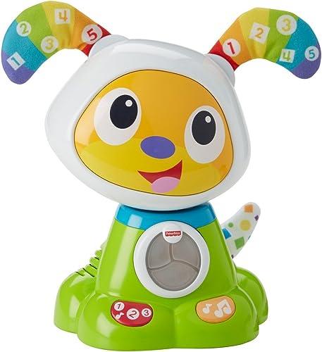 Fisher-Price Bebo le Chien Robot Interactif, Jouet Sons et Lumières pour Apprendre à Lire et à Écrire à Bébé, 9 Mois ...