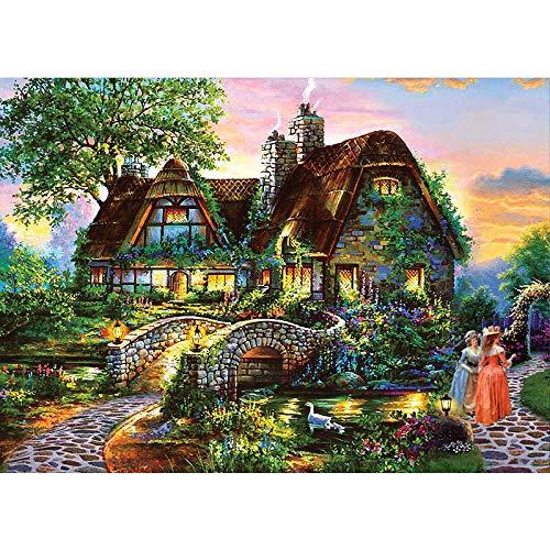 Mujer de la casa del jardín 1000 Piezas Puzzle Juego de Rompecabezas Rompecabezas para niñosAdultos Puzzle Animal paisajes Clásico Puzzle Navidad Halloween Juegos Puzzle Juguete Divertido