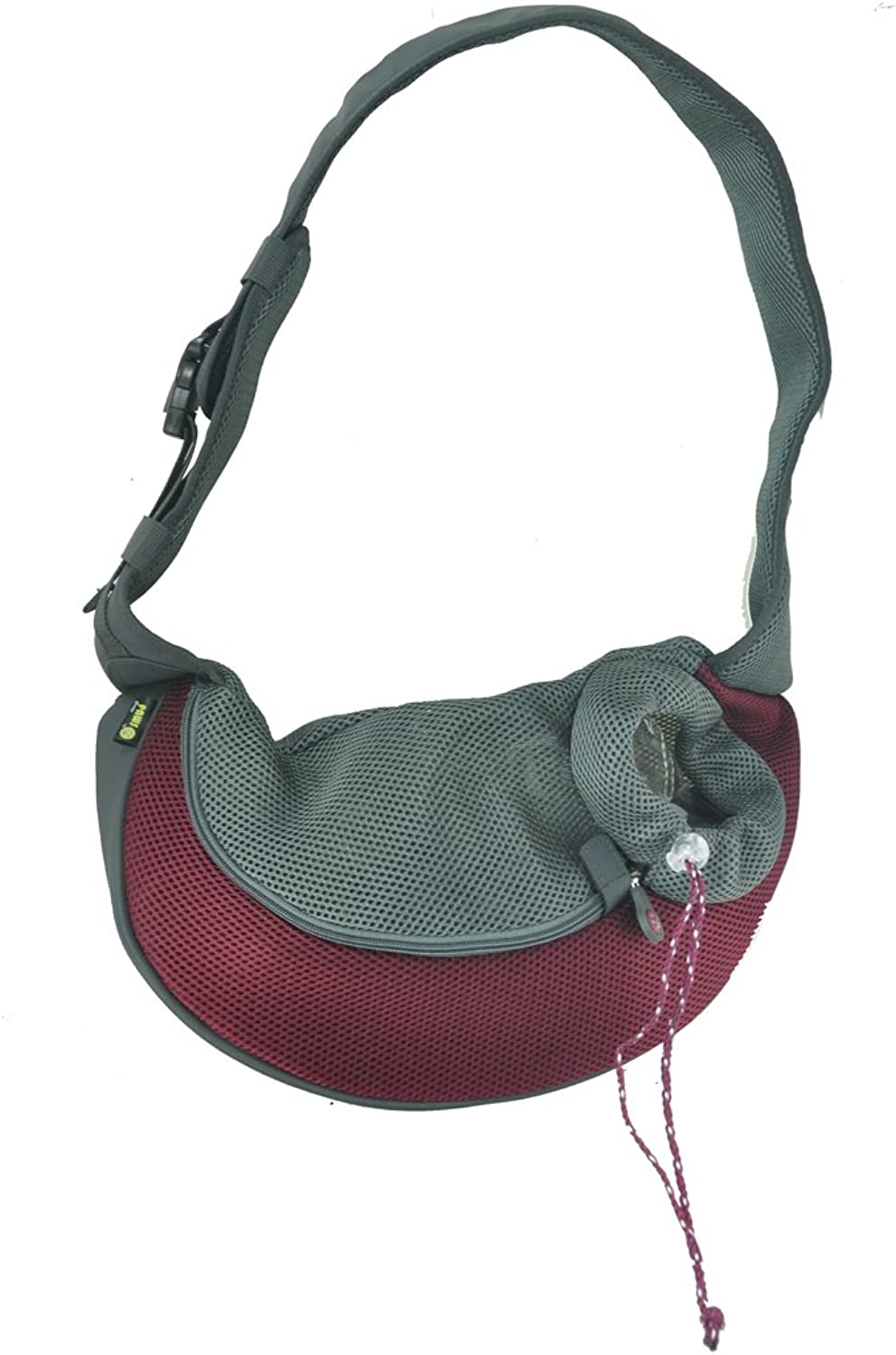 Crazy Paws Pet Sling, Small, Burgundy
