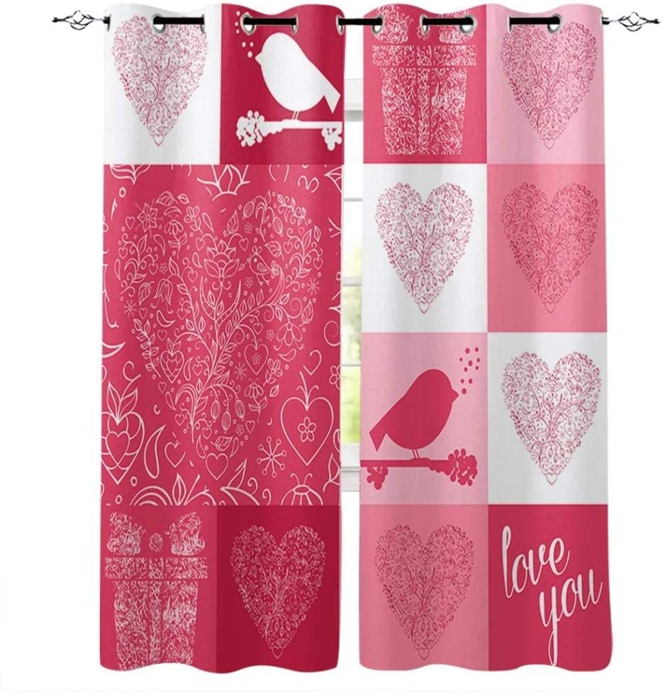 WAIMMD Lover's Love Ultra-Cheap Deals Ranking TOP8 Gift Window Valance Curtains Wind Treatments