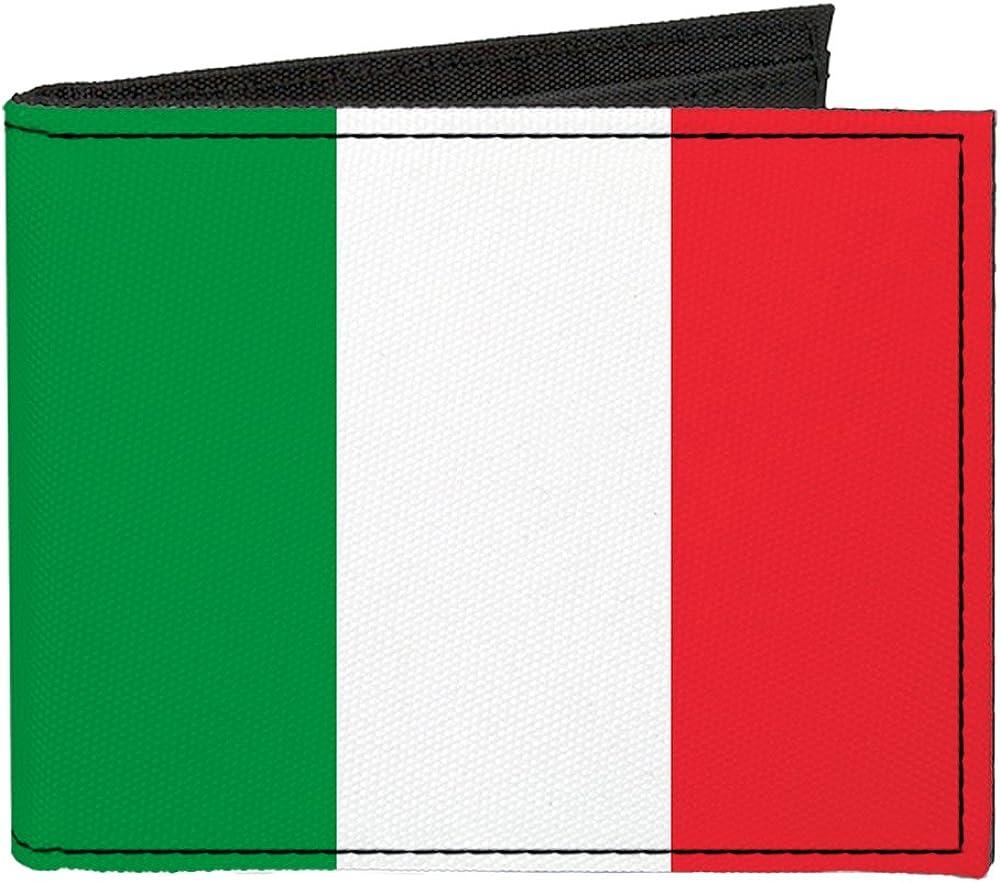 Buckle-Down Canvas Bi-fold Wallet-Italy Flag