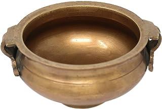 PARIJAT HANDICRAFT Brass Vessel Bowl Urli Religious Gifts 2x4.5x1.5 Inches 260 Grms