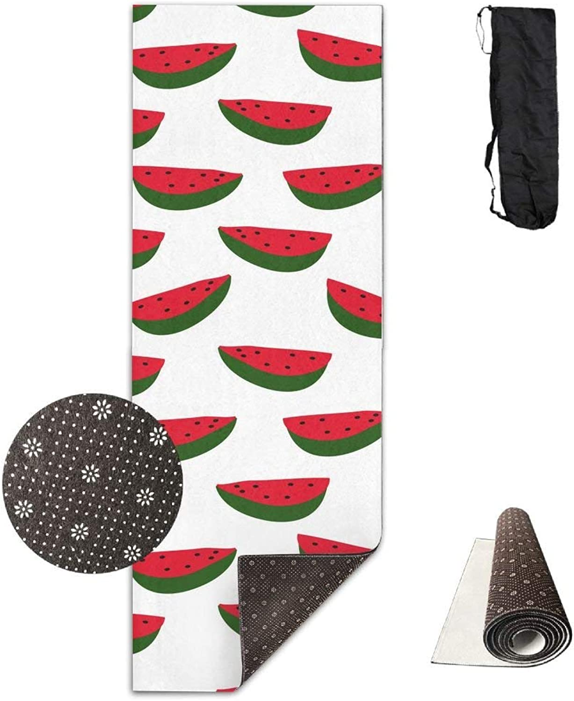 Watermelon Fruit Deluxe Yoga Mat Aerobic Exercise Pilates