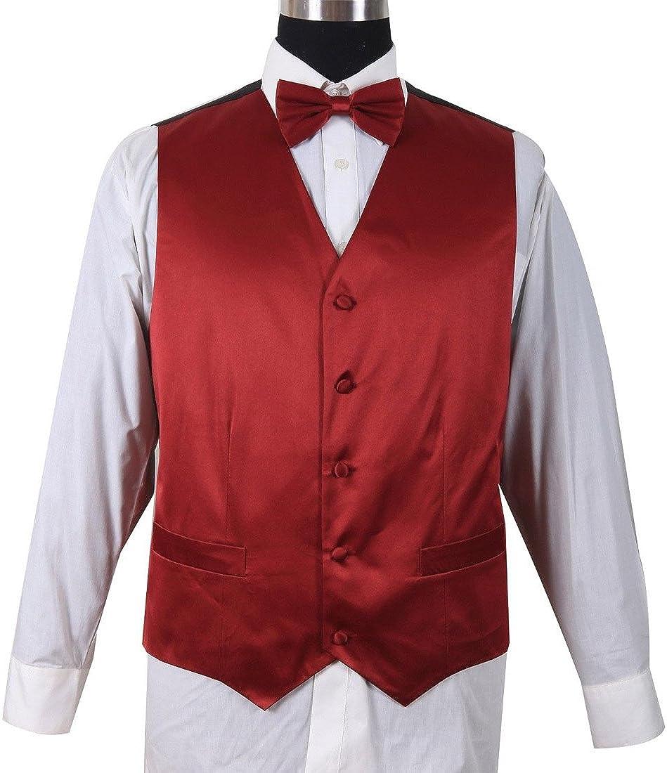 Milano Moda Men's Premier Cotton Fabric Vest Sets HLV004 New York Brand