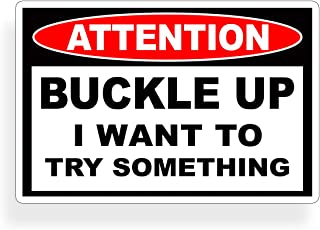 Buckle Up I Want To Try Something Stunt Decal Sticker