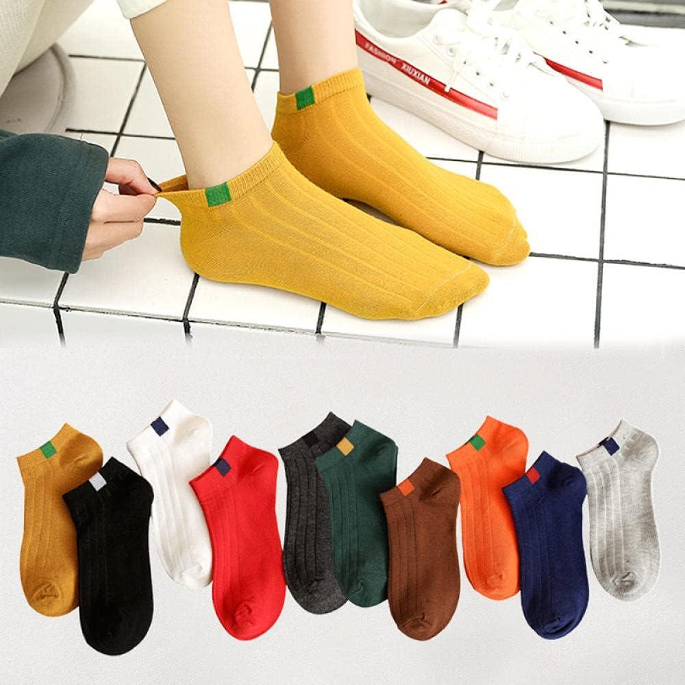 JIAJING 10 Pairs of Socks Short Socks Summer Thin Section Sweat-Absorbent Wearing Shallow Mouth Low Socks-Packed Boat Socks_Code
