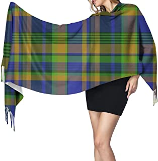 Nova Scotia Tartan Pik Mills Scarf Shawl Super Soft with Tassel Fashion Warm Large Wrap Shawl Winter Stole for Women
